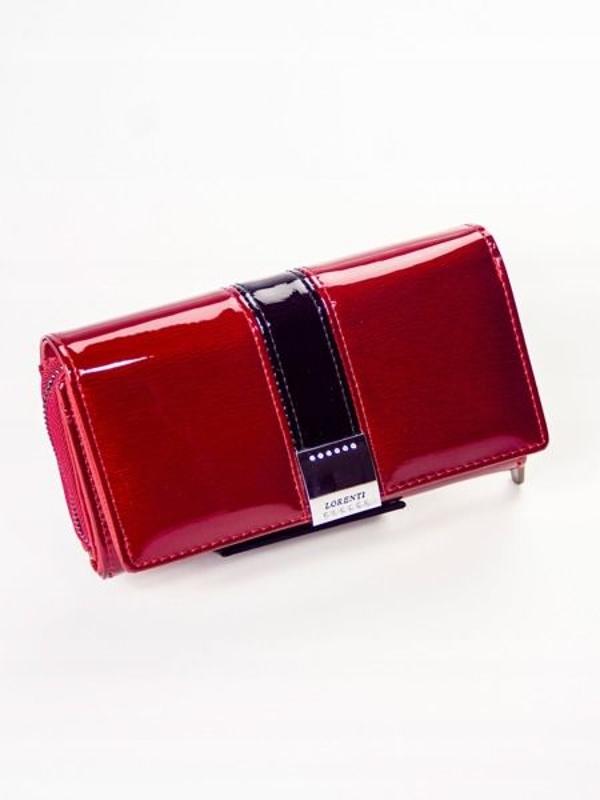 Červená dámska kožená peňaženka 1212