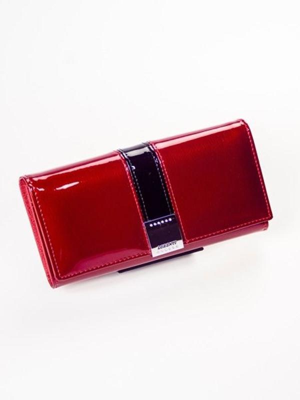 Červená dámska kožená peňaženka 1217