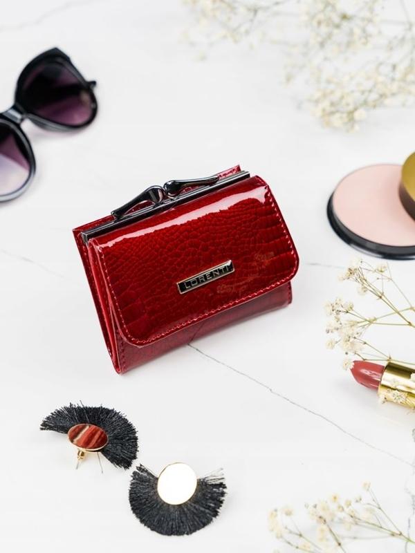 Červená dámska kožená peňaženka 2103