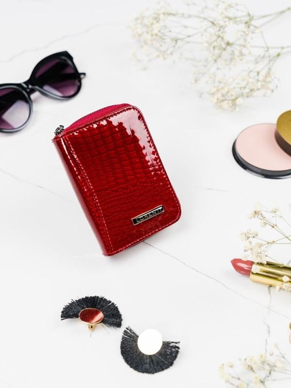 Červená dámska kožená peňaženka 2109