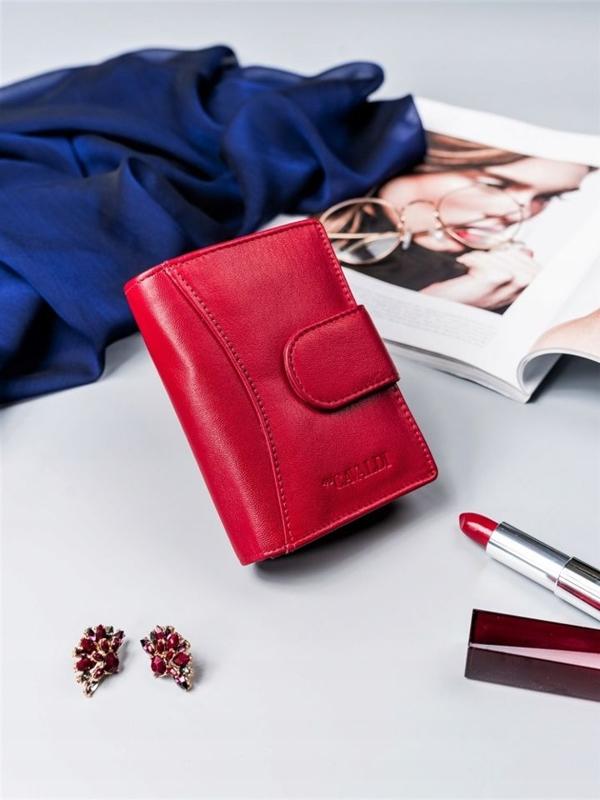 Červená dámska kožená peňaženka 2417