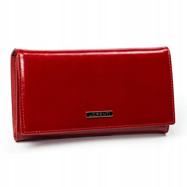 Červená dámska kožená peňaženka 2899