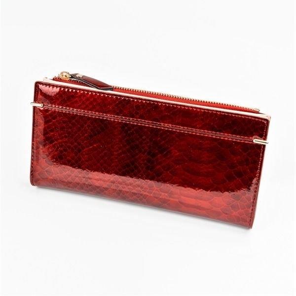 Červená dámska koženková peňaženka 1049