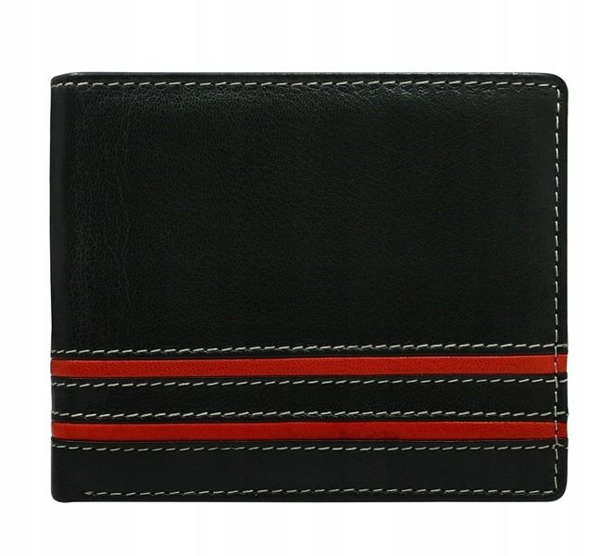 Červená pánska kožená peňaženka 597
