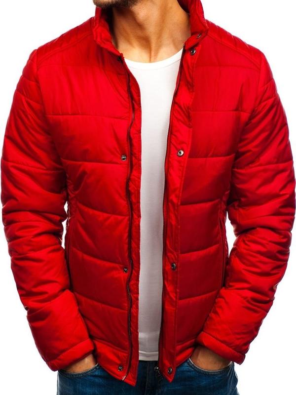 Červená pánska zimná bunda BOLF 83338