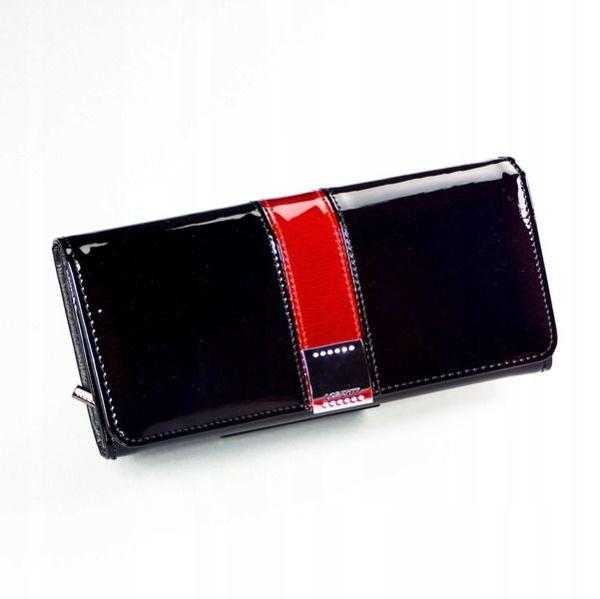 Čierna dámska kožená peňaženka 1166