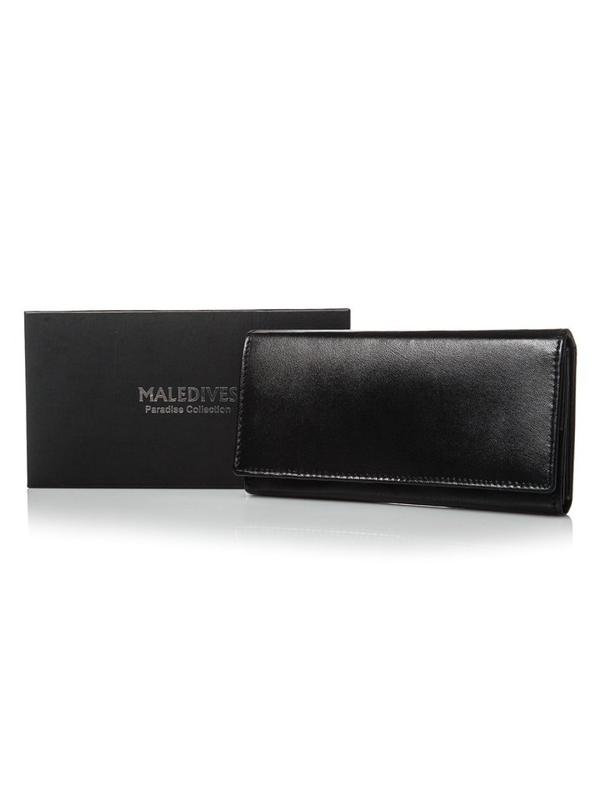 Čierna dámska kožená peňaženka 2688