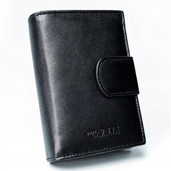 Čierna dámska kožená peňaženka 2777