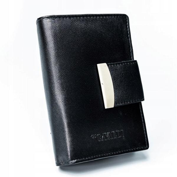 Čierna dámska kožená peňaženka 2778