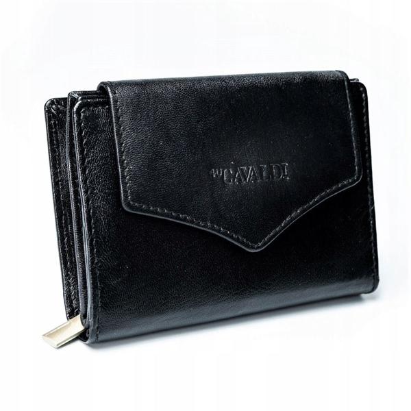 Čierna dámska kožená peňaženka 2781