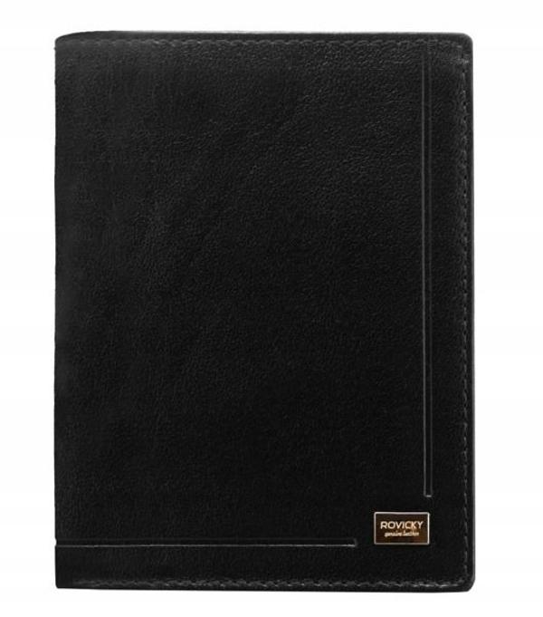 Čierna pánska kožená  peňaženka 190