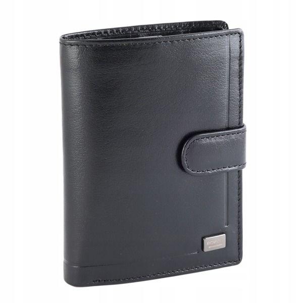 Čierna pánska kožená  peňaženka 194
