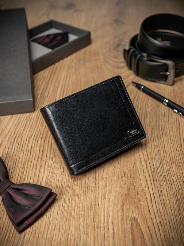 Čierna pánska kožená  peňaženka 200