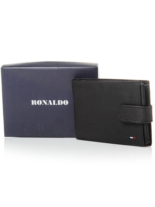 Čierna pánska kožená peňaženka 3076