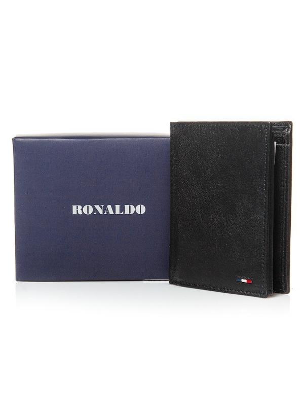 Čierna pánska kožená peňaženka 3079