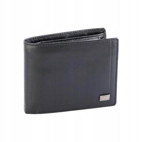 Čierna pánska kožená  peňaženka 345