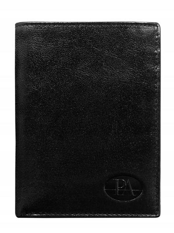 Čierna pánska kožená peňaženka 349