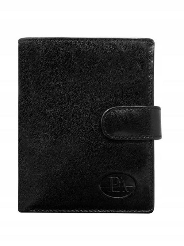 Čierna pánska kožená peňaženka 74
