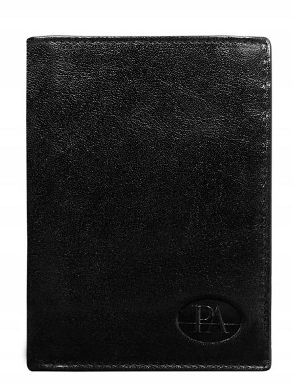 Čierna pánska kožená peňaženka 76