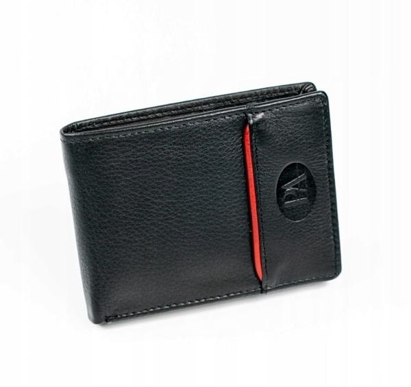 Čierna pánska kožená  peňaženka 875