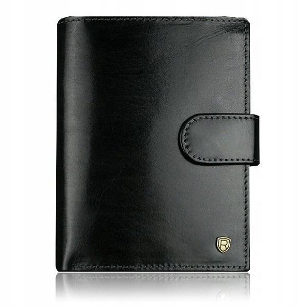 Čierna pánska kožená peňaženka 915