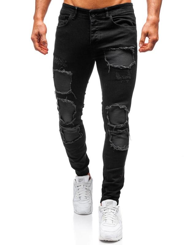 Čierne pánske jogger nohavice BOLF 820