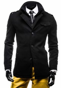 Čierny pánsky kabát BOLF 8853E