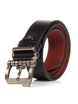 Čierny pánsky kožený opasok Bolf P018