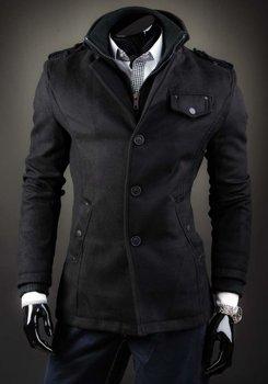 Čierny pánsky plášť BOLF 8853D