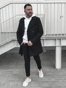 Čierný pánsky zimný kabát Bolf 1048B
