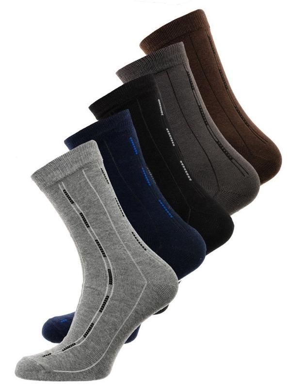 Farebné pánske ponožky BOLF X10072-5P 5 KS