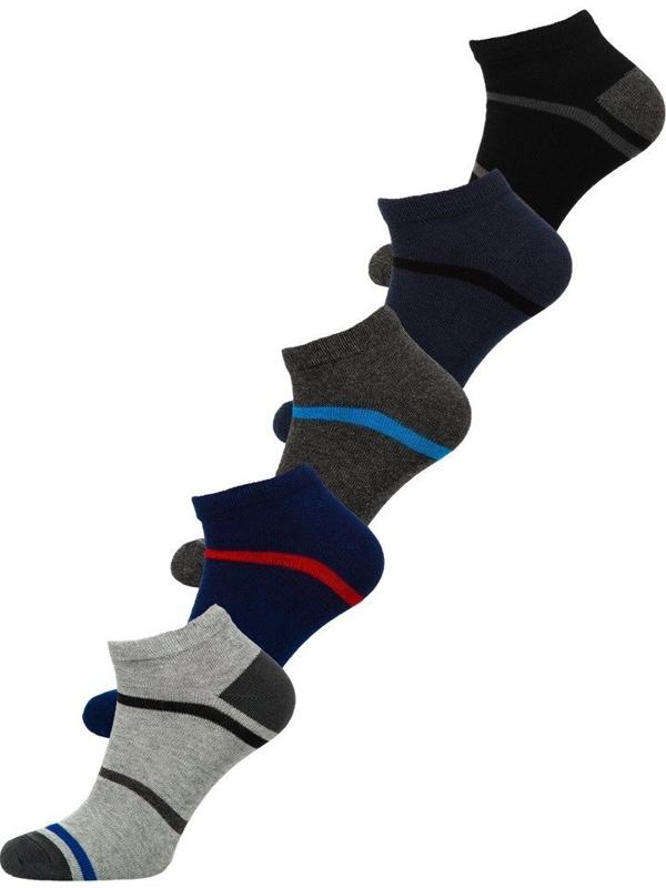 Farebné pánske ponožky BOLF X10082-5P 5 KS