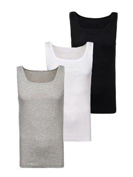 Farebné pánske tričko bez potlače BOLF C10010-3P 3 KS