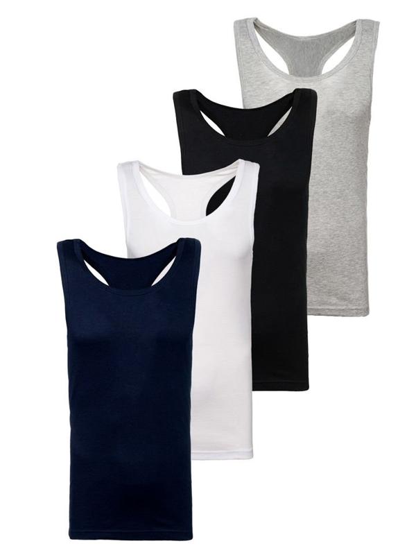 Farebné pánske tričko bez potlače BOLF C3061-4P 4 KS