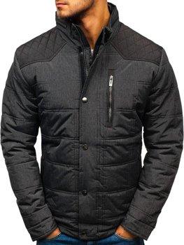 Grafitová pánska zimná bunda BOLF AB065
