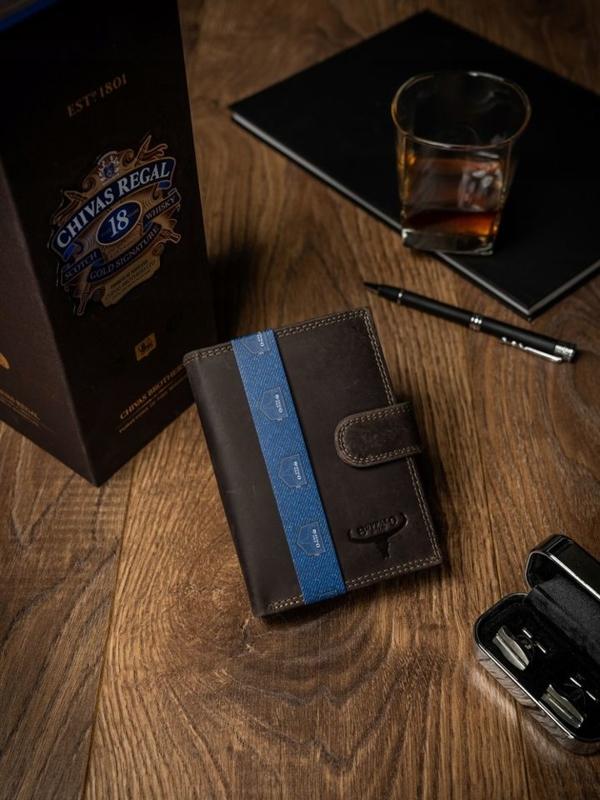 Hnedá pánska kožená peňaženka 2224