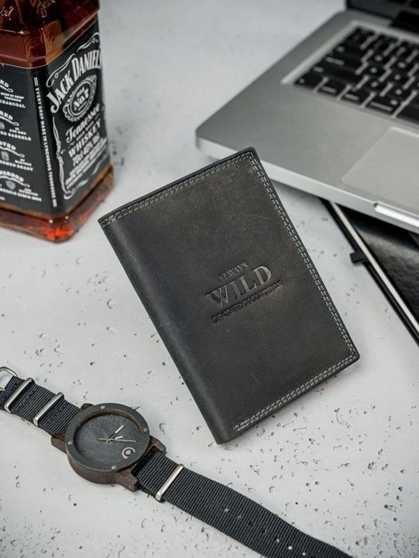 Hnedá pánska kožená peňaženka  3176