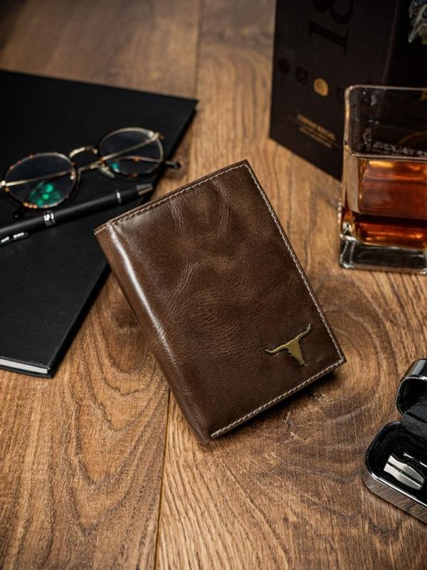 Hnedá pánska kožená peňaženka 64