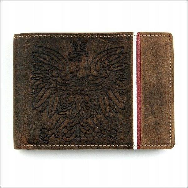 Hnedá pánska kožená peňaženka  677