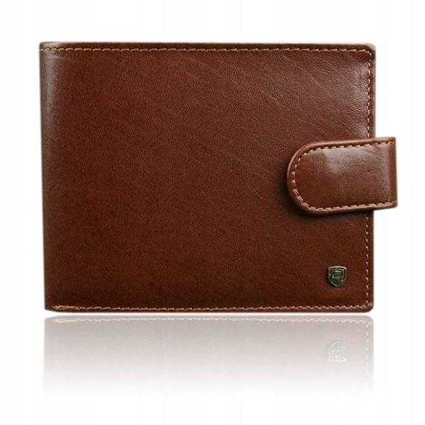 Hnedá pánska kožená peňaženka 917