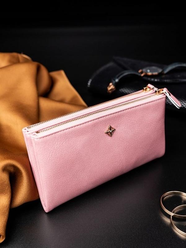 Ružová dámska koženková peňaženka 1820