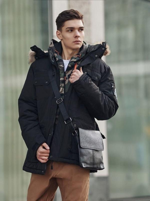 Štylizácia č. 360 - taška cez rameno ,zimná bunda parka ,mikina s kapucňou, nátelník, baggy nohavice