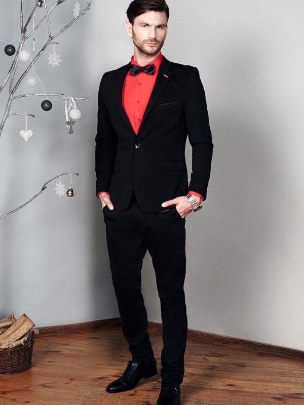 Štylizácia č. 375 - motýlik, elegantné sako, košeľa, chinos nohavice