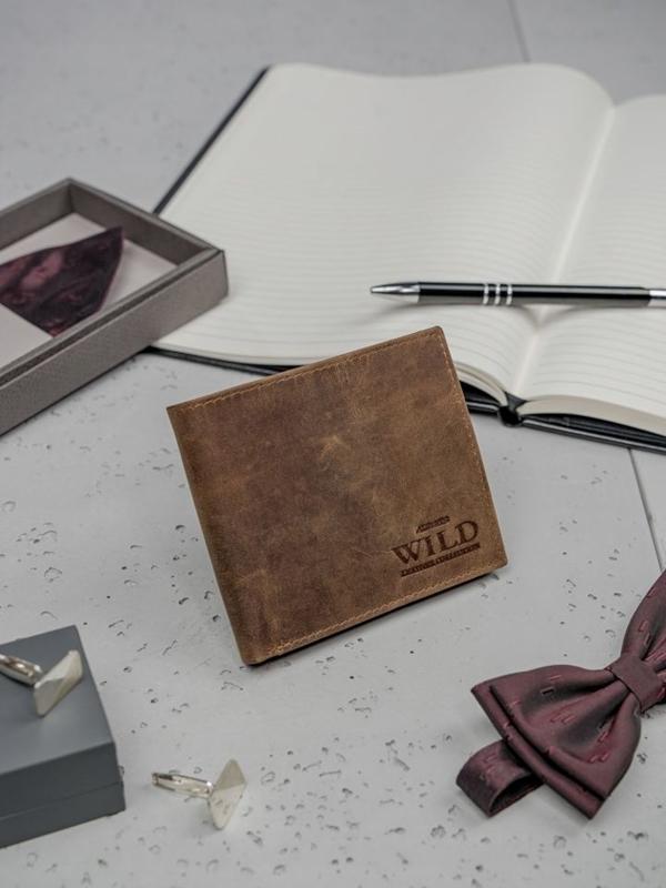 Svetlohnedá pánska kožená peňaženka 3182