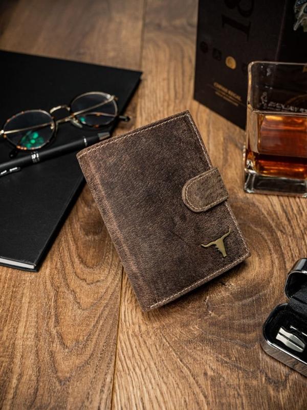 Svetlohnedá pánska kožená peňaženka 43
