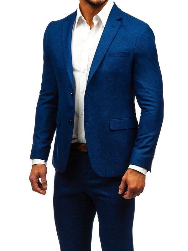 Tmavmodrý pánsky oblek BOLF 171000-1