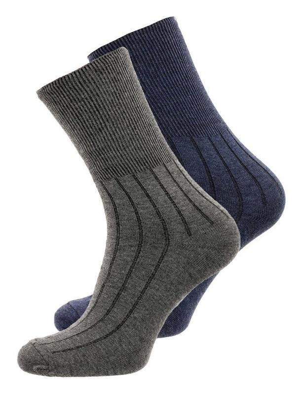 Tmavomodro-šedé pánske ponožky BOLF X10014-2P 2 KS