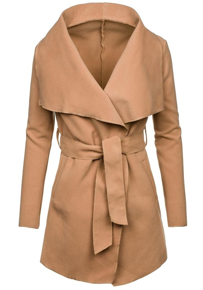 Béžový dámsky kabát Bolf 1726 92f1f75027e