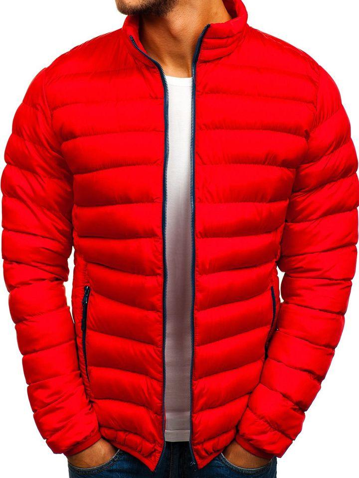 Červená pánska športová zimná bunda BOLF SM50 610f85a23e1