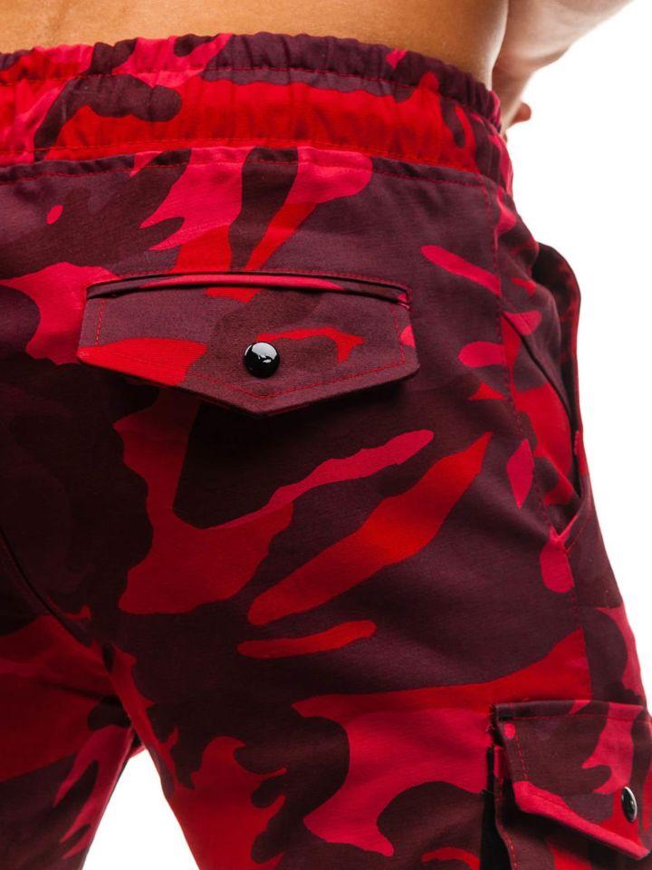 Maskáčovo-červené pánske kapsáčové joggery BOLF 0705 922bb4cdb97